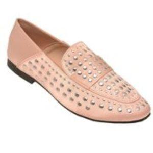 Qupid Pink Embellished Flats
